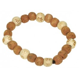 Lucky Karma Bois - Bracelet bois naturel / marron