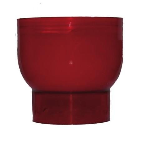 Lot de 10 Veilleuses votives - 9H - rouge