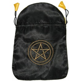 Bourse Satin noir - Pentacle