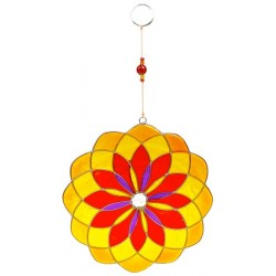 Attrape Soleil - Mandala Rouge/Jaune/Orange