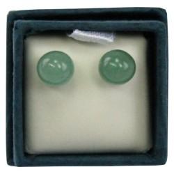 Boucles d'oreilles perle d'aventurine - 6 mm - lot de 2 paires