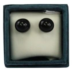 Boucles d'oreilles perle d'onyx - 6 mm - lot de 2 paires