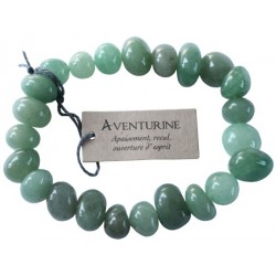 Bracelet nuggets Aventurine - lot de 3