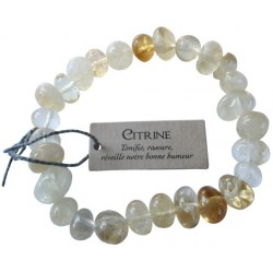 Bracelet nuggets Citrine - lot de 3