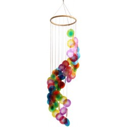 Mobile coquillages - Arc-en-Ciel - Spirale - 80 cm
