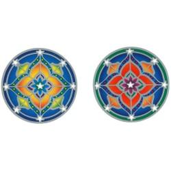 Autocollant Attrape Soleil : Mandala Petit Modèle - Lot de 2