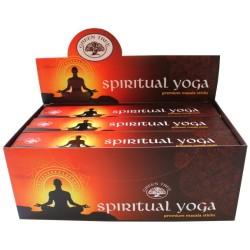 Encens Green Tree Spiritual Yoga 15 grammes - Lot de 12