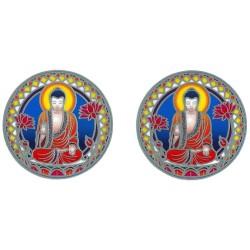 Autocollant Attrape Soleil : Bouddha - Petit Modèle - Lot de 2