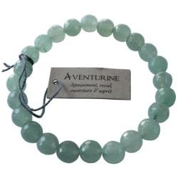 Bracelet pierres rondes facettées Aventurine - lot de 3