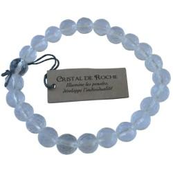 Bracelet pierres rondes facettées Cristal de Roche - lot de 3