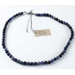 Collier Sodalite perles rondes 6 mm