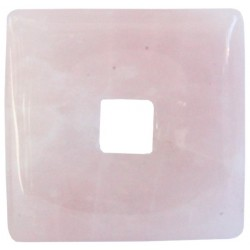Pi Chinois carré Quartz Rose 3 cm - lot de 6