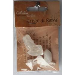 Sachet pierres brutes - Cristal de roche - lot de 6