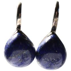 Boucles d'oreille pierre bombée Lapis Lazuli