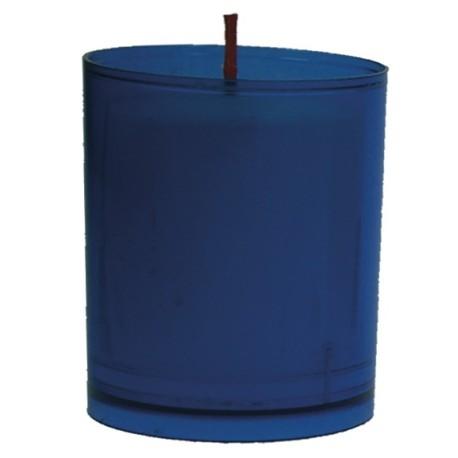 Lot de 10 Veilleuses votives - 30H - Bleues