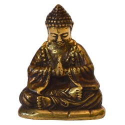 Statue Bouddha Japon qualité Bronze antique doré 5x8 cm