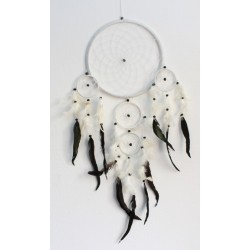 Dreamcatcher Grand Modèle Blanc - 26 cm