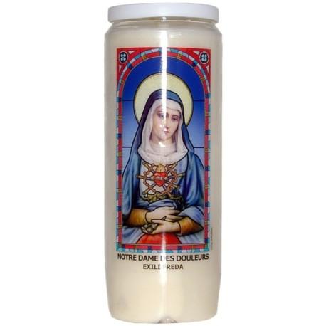 Neuvaine vitrail : Notre Dame des douleurs - Exili Freda