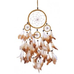 Dreamcatcher 4 cercles - Marron