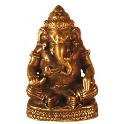 Mini Statue Ganesh Assis laiton 1,5 x 3 cm - lot de 3