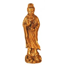 Mini Statue Yin laiton 1,5 x 4,5 cm - lot de 3