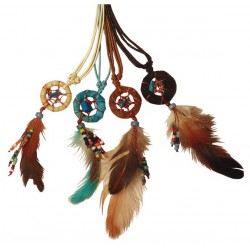 Collier Dreamcatcher avec perles - lot de 4