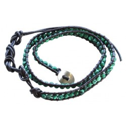 Bracelet Pierres 2 Tours - Malachite