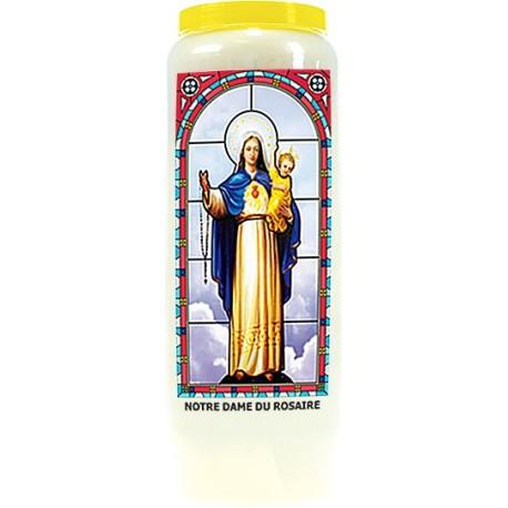 Neuvaine vitrail : Notre Dame du Rosaire
