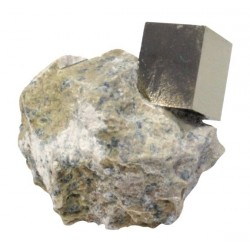 Cube Pyrite sur Gangue - PM