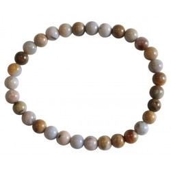 Bracelet Perles Rondes Agate Crazy Lace - 6 mm (lot de 3)