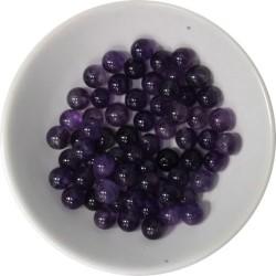 Perles Améthyste 6 mm - Sachet de 66 perles