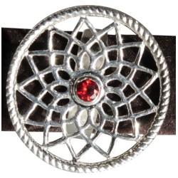 Bague Mandala 1 pierre - Grenat - T56