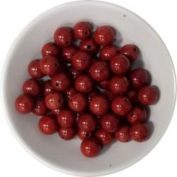 Perles Jaspe Rouge 8 mm - Sachet de 50 perles