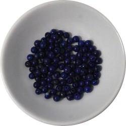 Perles Lapis Lazuli 4 mm - Sachet de 100 perles