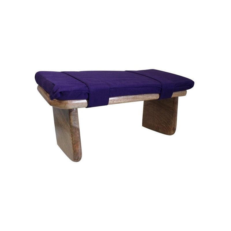 banc de meditation shoggi avec coussin violet kappok. Black Bedroom Furniture Sets. Home Design Ideas