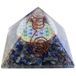 Pyramide Orgonite Fleur de Vie - 7 cm