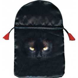 "Bourse satin ""Chat noir"""