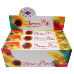 ENCENS GREEN TREE FLOWER OF LIFE 15 GR - LOT DE 12
