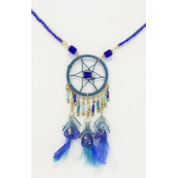Collier Dreamcatcher Bleu
