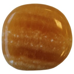 PIERRES ROULEES PLATES - CALCITE ORANGE - LOT DE 10