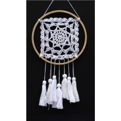 DREAMCATCHER CROCHET ET DENTELLE MANTRA - 20 CM