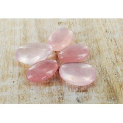 PIERRES AMULETTES QUARTZ ROSE - LOT DE 5