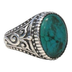 Bague Turquoise Homme Taille 64