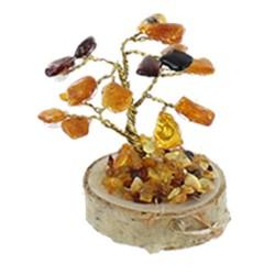 Arbre du bonheur - Ambre mixte 5 cm - 16 pierres