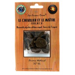 Encens rares : Le Chevalier et le Maître - O.D.L.R.C.V - Force de l'Esprit - 25 gr.