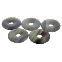 Pi Chinois Agate Rubanée semi poli 30 mm - Lot de 5 pièces