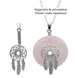 Porte Donut finition Rhodium - Mini Dreamcatcher - Lot de 2 pcs