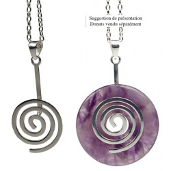Porte Donut finition Rhodium - Spirale -Lot de 2