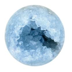 Sphère / Boule creuse Célestite - Pièce de 6 à 10 cm