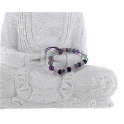 Bracelet mala tibétain - Fluorite - Lot de 5